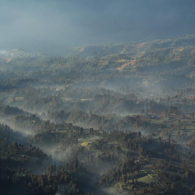"""""""Cemoro lawang village at mount Bromo. In Bromo tengger semeru national park, East Java, Indonesia"""" stock image"""
