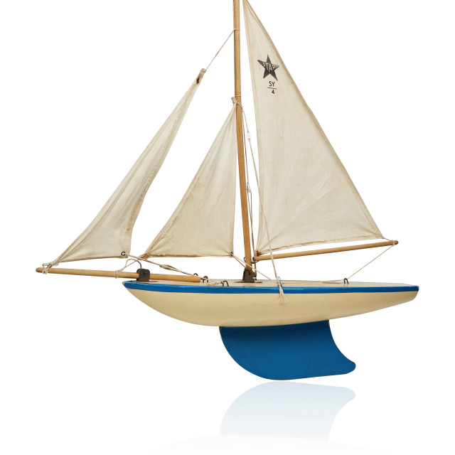 """Pond Yacht"" stock image"