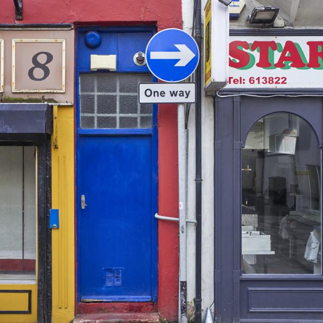 """""""The blue door"""" stock image"""