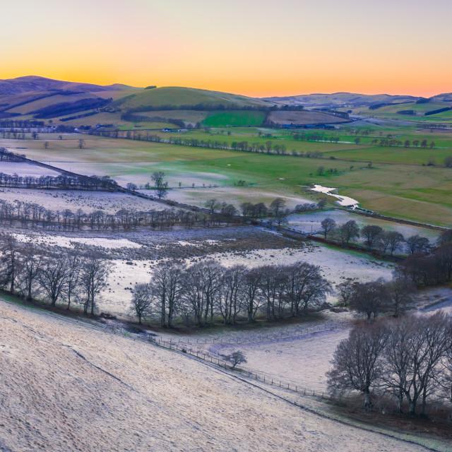 """Scottish Winter Panorama Landscape"" stock image"