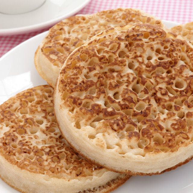 """""""Toasted crumpets"""" stock image"""