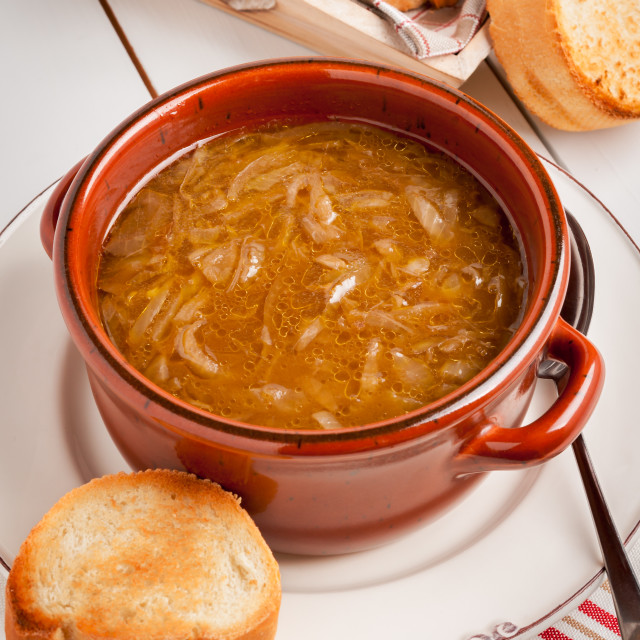 """""""French Onion Soup"""" stock image"""
