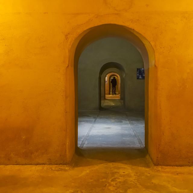 """""""Basement under El Badi Palace"""" stock image"""