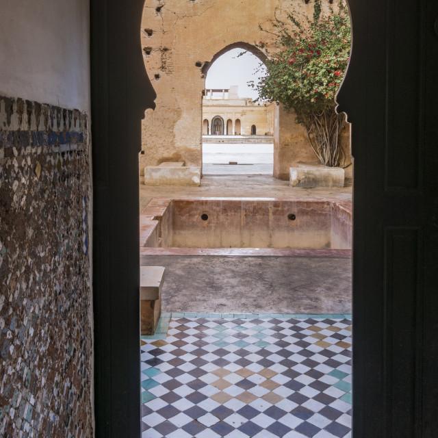 """""""Moroccan Doorway in El Badi Palace"""" stock image"""