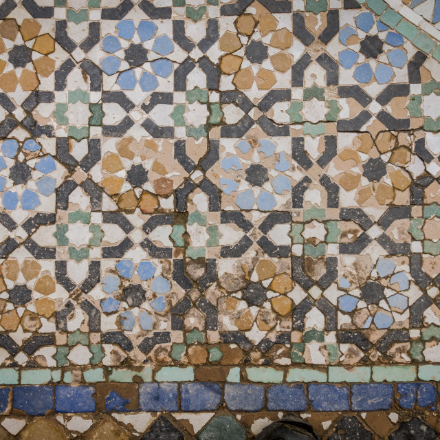 """Oriental tiles on wall"" stock image"
