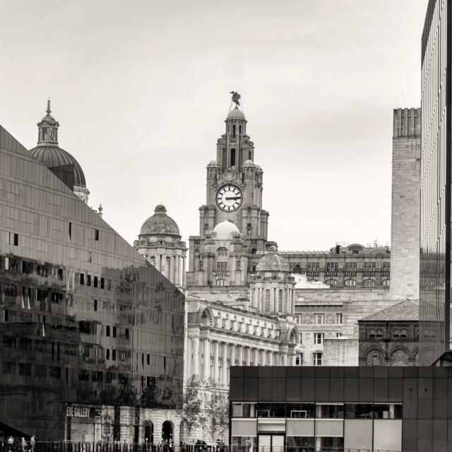 """Liverpool Skyline"" stock image"