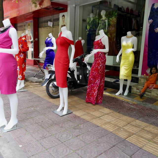 """""""SShuufling mannequins"""" stock image"""