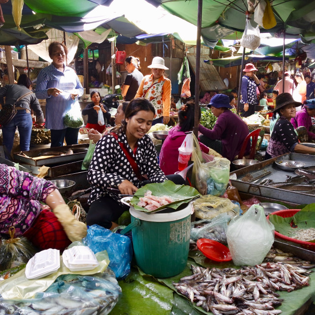 """Local market, Phnom penh"" stock image"