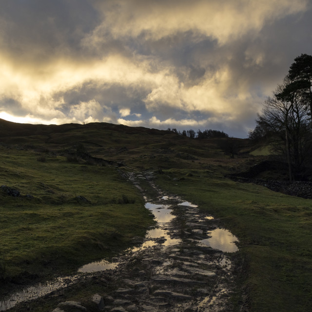 """""""Clearing Weather, Lake District, Cumbria,"""" stock image"""