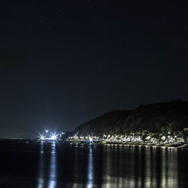 """""""Mumbles by night"""" stock image"""