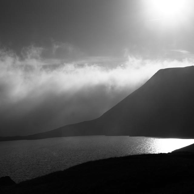 """""""Mono lake Llynyfan fawr"""" stock image"""