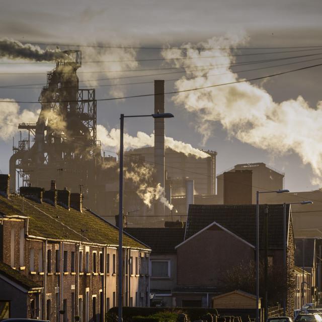 """Port Talbot Steel works"" stock image"