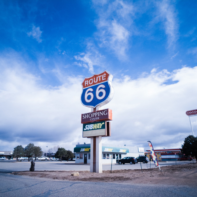 """""""Route 66"""" stock image"""