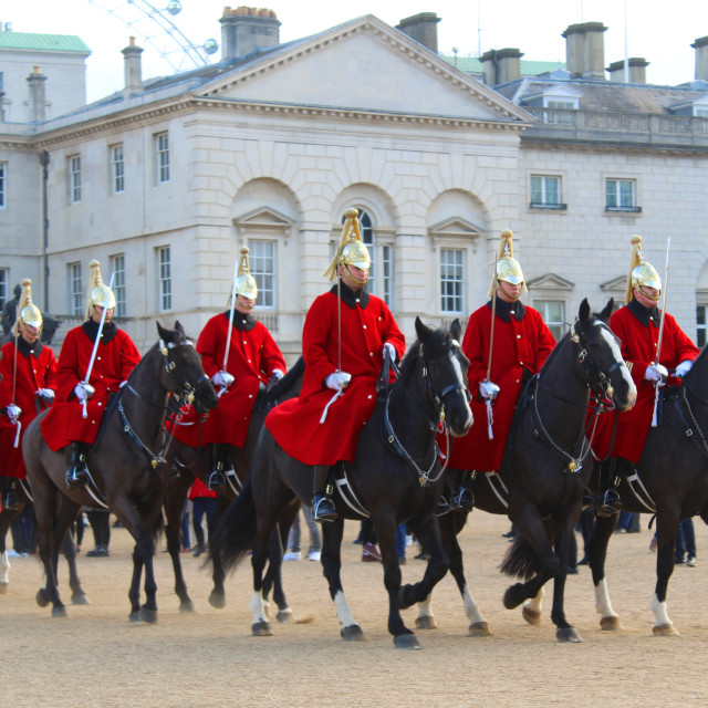 """""""London Guards On Horses"""" stock image"""