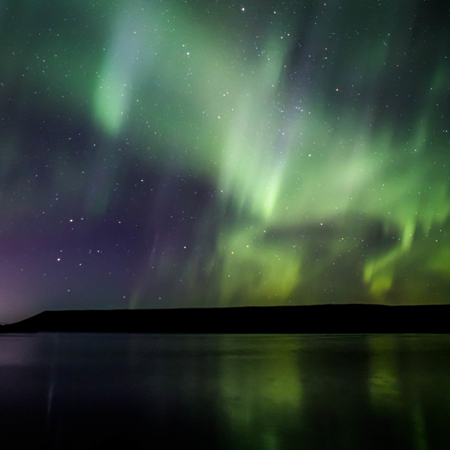 """Northern Lights Forming into a Corona, Part 2"" stock image"