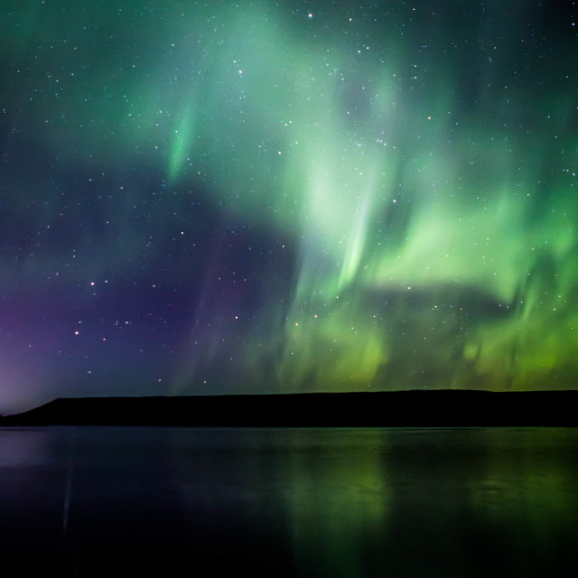 """Northern Lights Forming into a Corona, Part 3"" stock image"