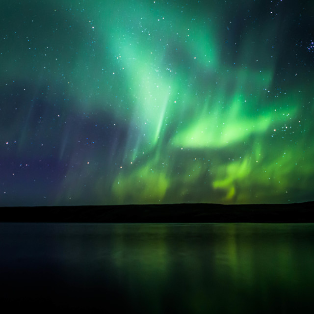 """Northern Lights Forming into a Corona, Part 4"" stock image"
