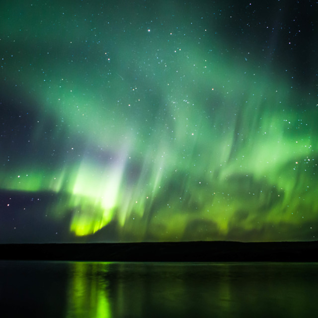 """Northern Lights Forming into a Corona, Part 6"" stock image"