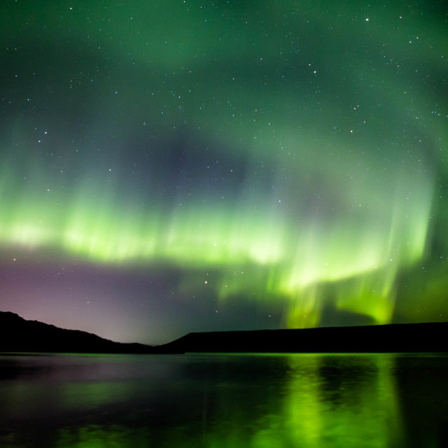"""Northern Lights Forming into a Corona, Part 7"" stock image"