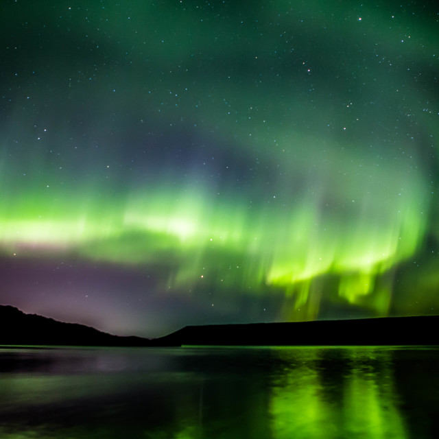 """Northern Lights Forming into a Corona, Part 8"" stock image"