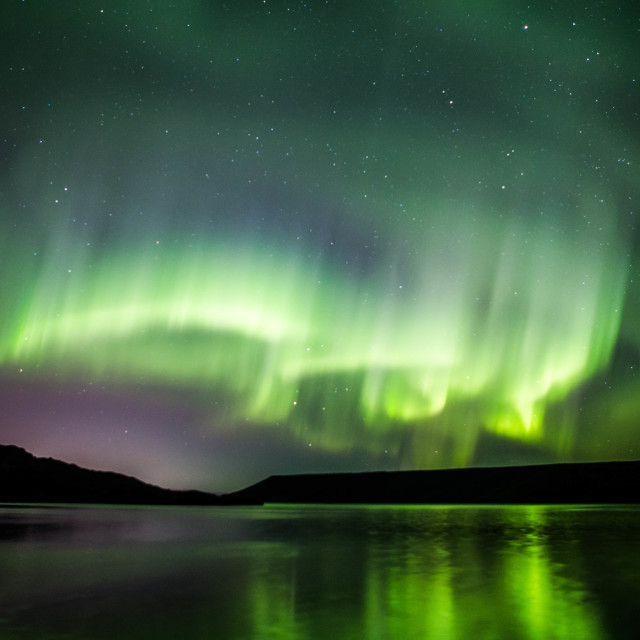 """Northern Lights Forming into a Corona, Part 9"" stock image"