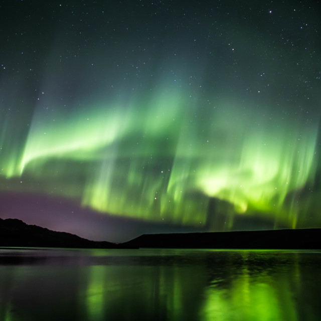 """Northern Lights Forming into a Corona, Part 10"" stock image"