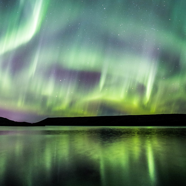 """Northern Lights Forming into a Corona, Part 12"" stock image"