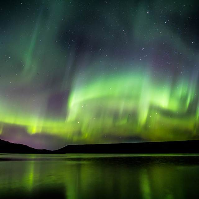 """Northern Lights Deforming from a Rare Corona, Part 1"" stock image"