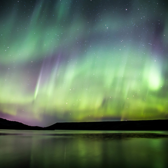 """Northern Lights Deforming from a Rare Corona, Part 3"" stock image"