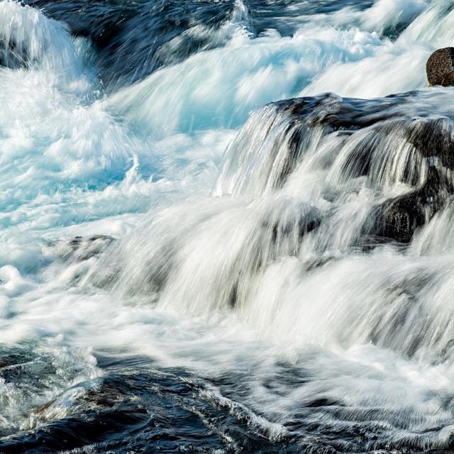 """Midfoss waterfall, Iceland"" stock image"