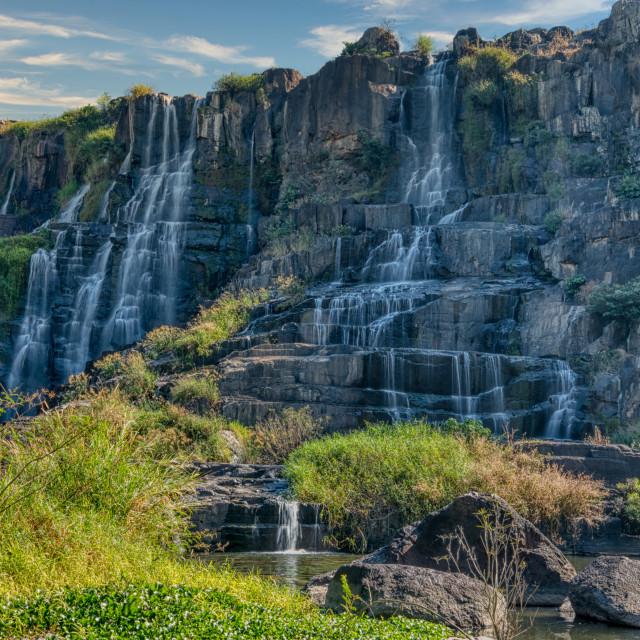 """""""pongour waterfalls"""" stock image"""