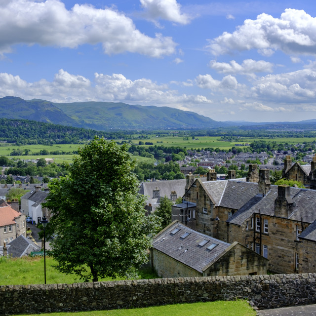 """""""The view from Stirling Castle Stirling Stirlingshire Scotland"""" stock image"""