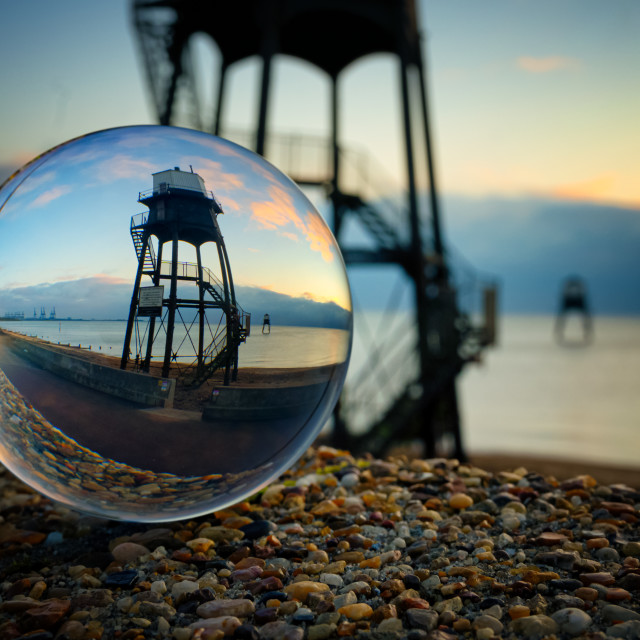 """Dovercourt Lighthouses"" stock image"