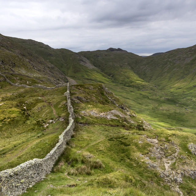 """""""High Pike from Low Pike, Lake District, Cumbria UK"""" stock image"""