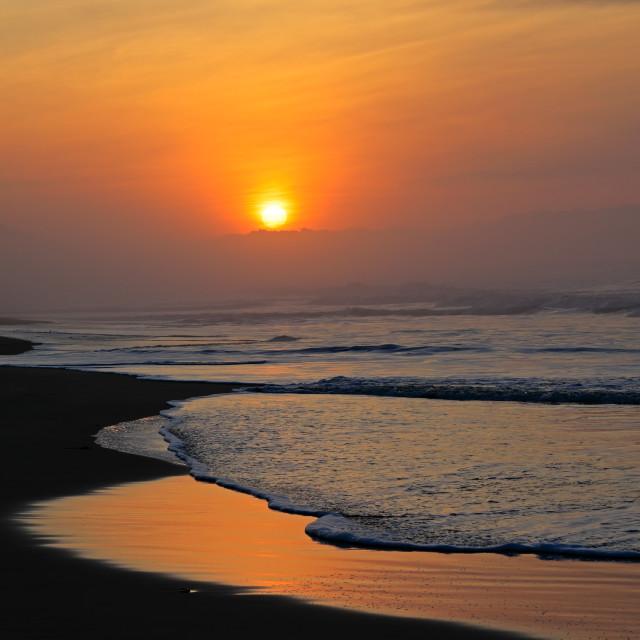 """Seascape at sunrise - South Africa"" stock image"