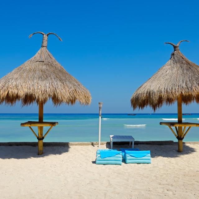 """Scenic tropical beach - Bali"" stock image"