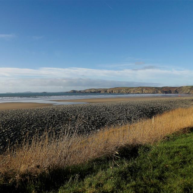 """""""Newgale Beach in Pembrokeshire"""" stock image"""