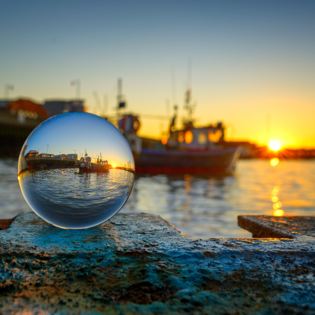 """Harwich Sunset Jan 2020"" stock image"