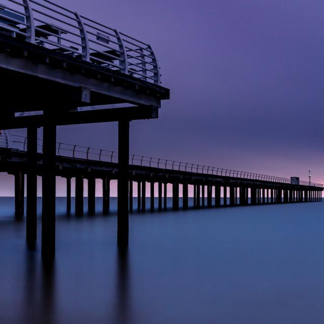 """Felixstowe Pier dawn"" stock image"