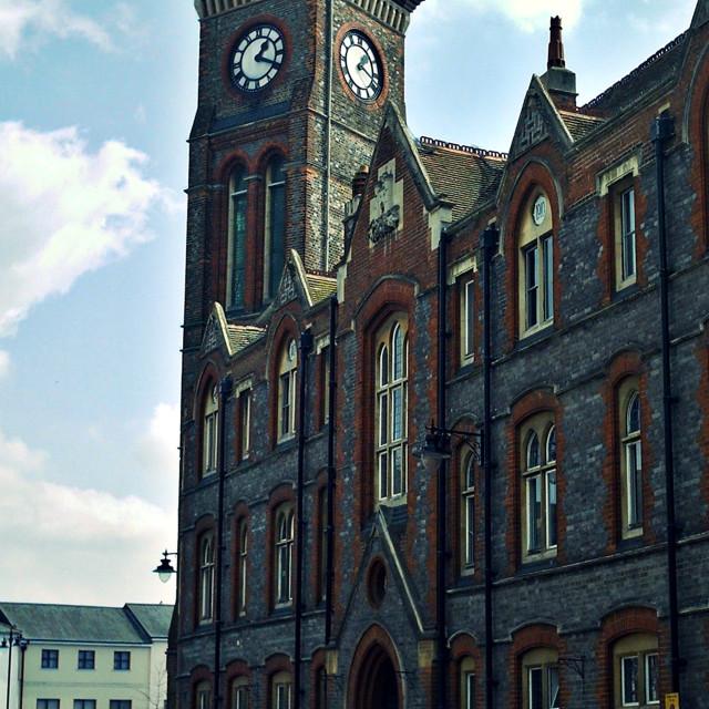 """""""Newbury Town Hall"""" stock image"""