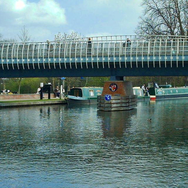 """Wharf Road Bridge - Newbury, England"" stock image"
