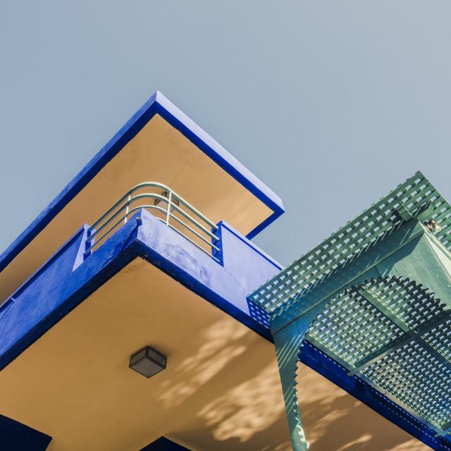 """""""Blue House in the Jardin Majorelle, Majorelle gardens."""" stock image"""