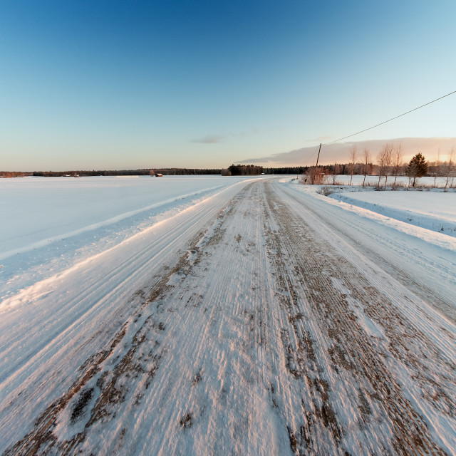 """""""Icy Road On A Winter Morning"""" stock image"""