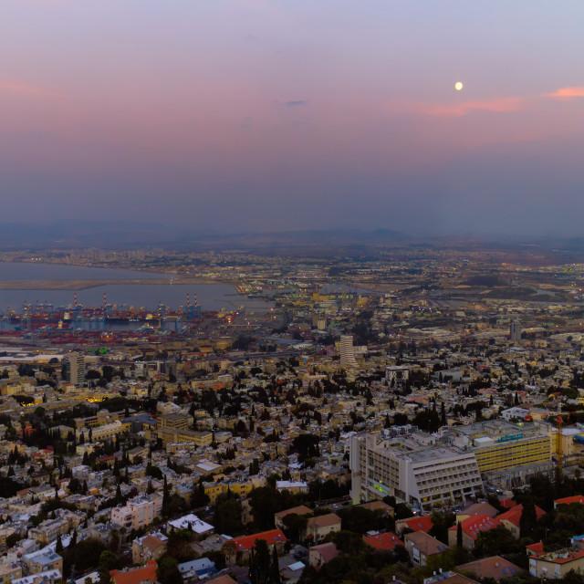 """""""Haifa, Israel- November 11,2019: Israel's largest port on the Mediterranean..."""" stock image"""