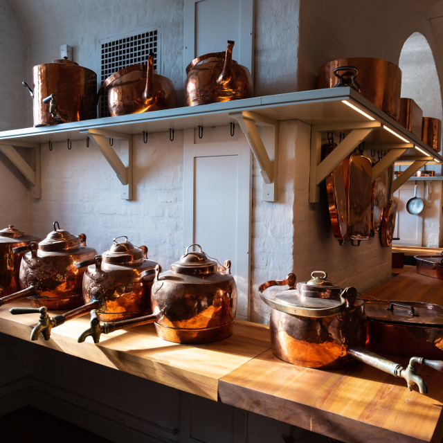 """""""Antique kitchen for professional use"""" stock image"""