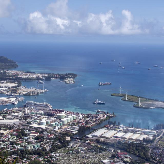 """Victoria Seychelles"" stock image"