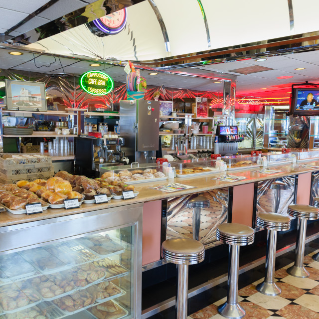 """""""Park West Diner New Jersey"""" stock image"""