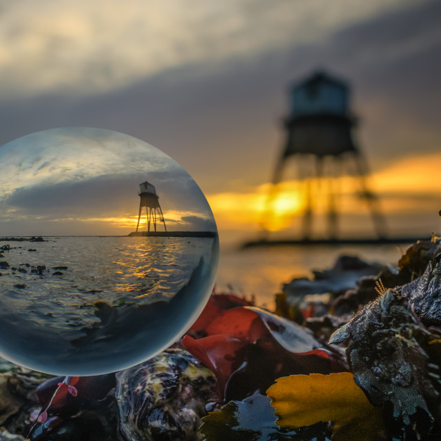 """Dovercourt Outer Lighthouse at Sunrise"" stock image"