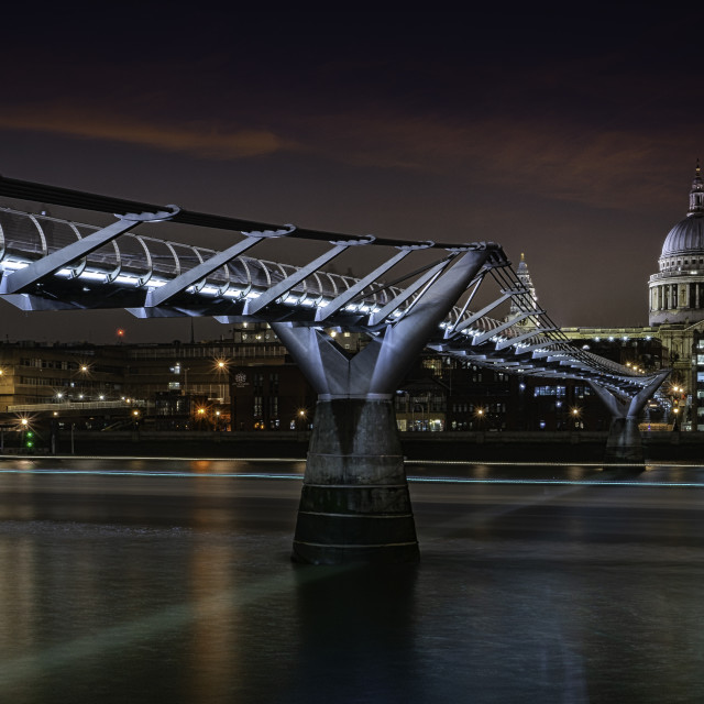 """The Millennium Bridge, London"" stock image"