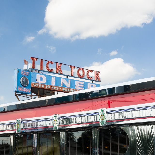 """Tick Tock Diner"" stock image"